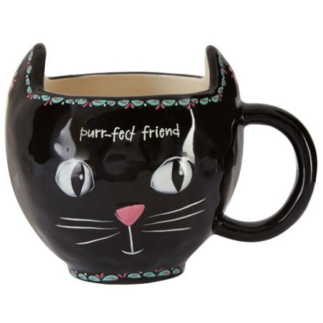Black Cat Mug- Purrfect Friend