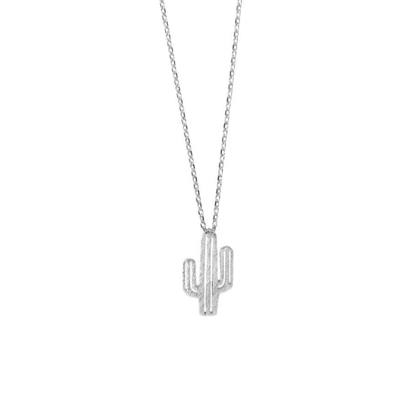 Cactus Charm Necklace- Gold & Silver