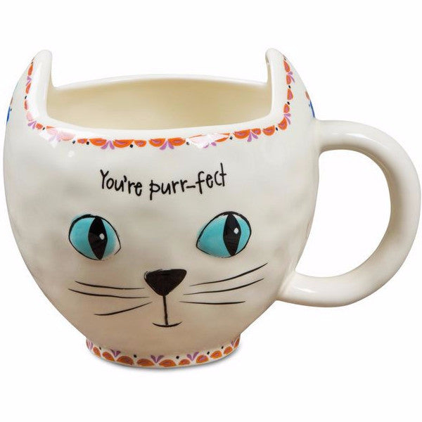 Cream Cat Mug- You're Purrr-fect