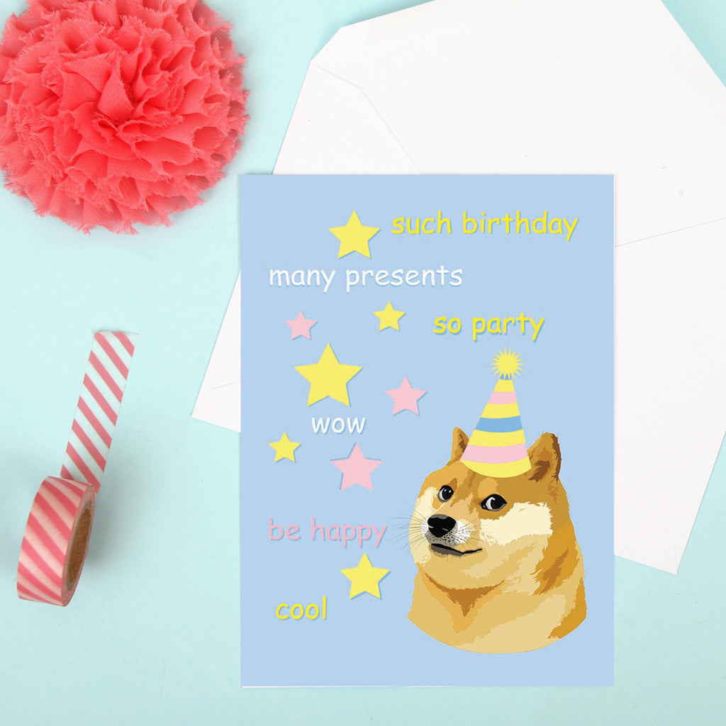 Such Birthday Doge Card
