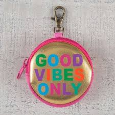 Ear phone pouch - good vibes