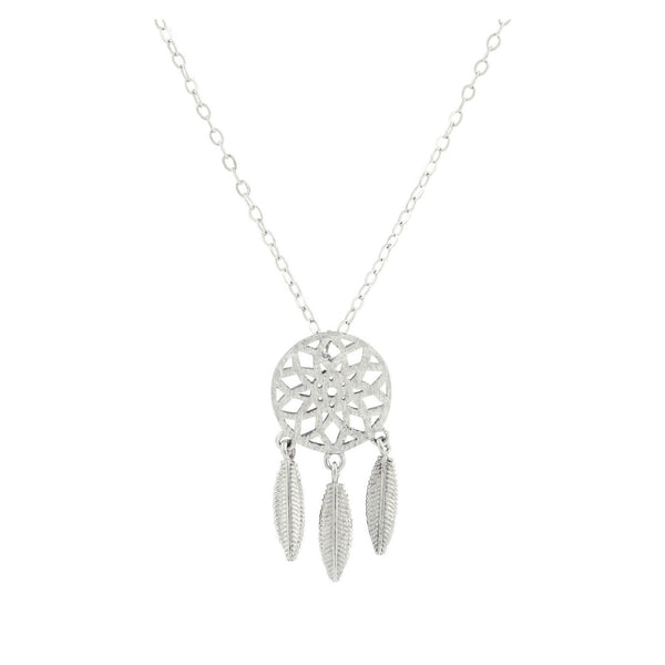 Dream Catcher Charm Necklace- Gold & Silver