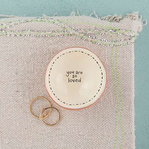 You Are So Loved Mini Terracotta Dish