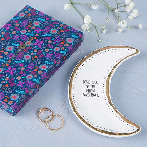 To The Moon And Back Trinket Dish