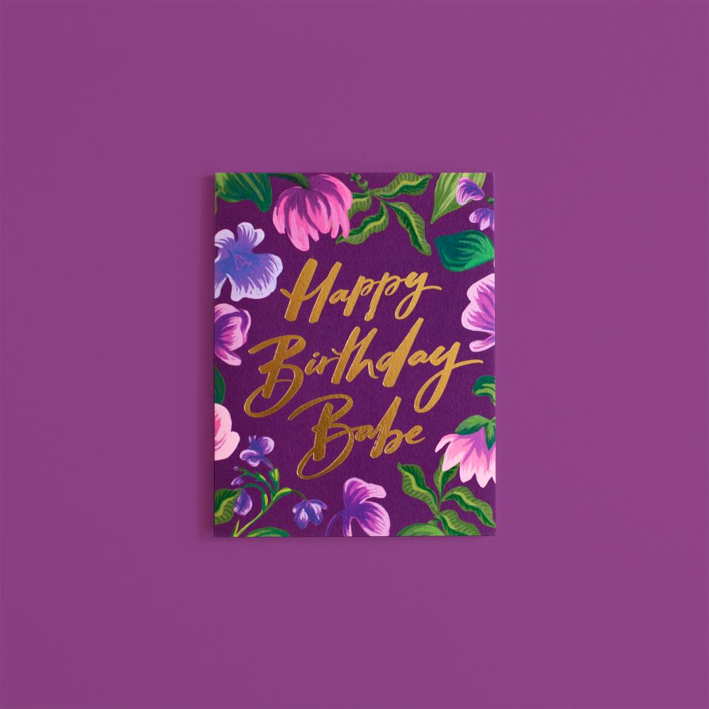 Happy birthday babe card
