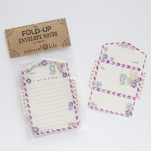fold up envelope notes - cream