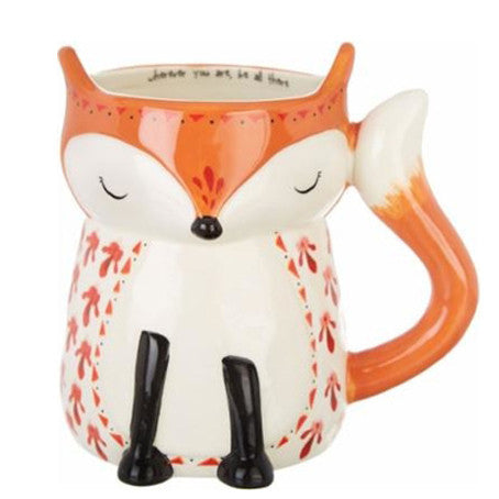 Fox Folk Art Mug