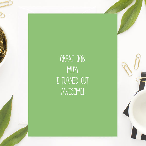 Great job Mum Card