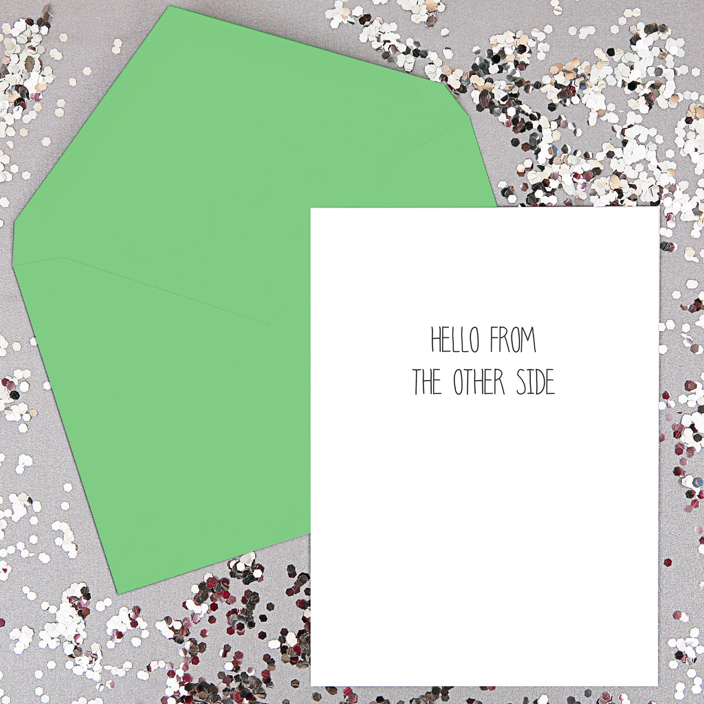 Hello from the other side- song lyrics Card
