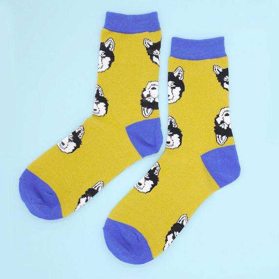 Yellow Husky Socks