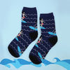 lady surfer socks