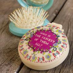 Compact mirror and brush - Fairest of them all