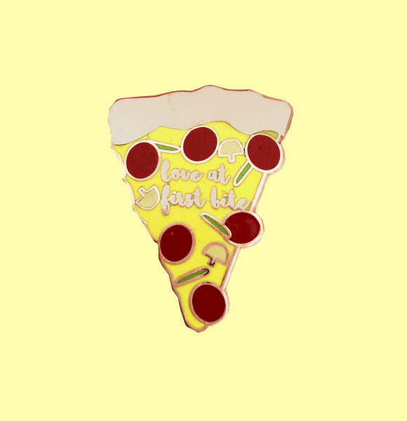 Love at First Bite Pizza Pin
