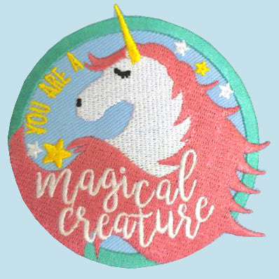magical creature iron on patch