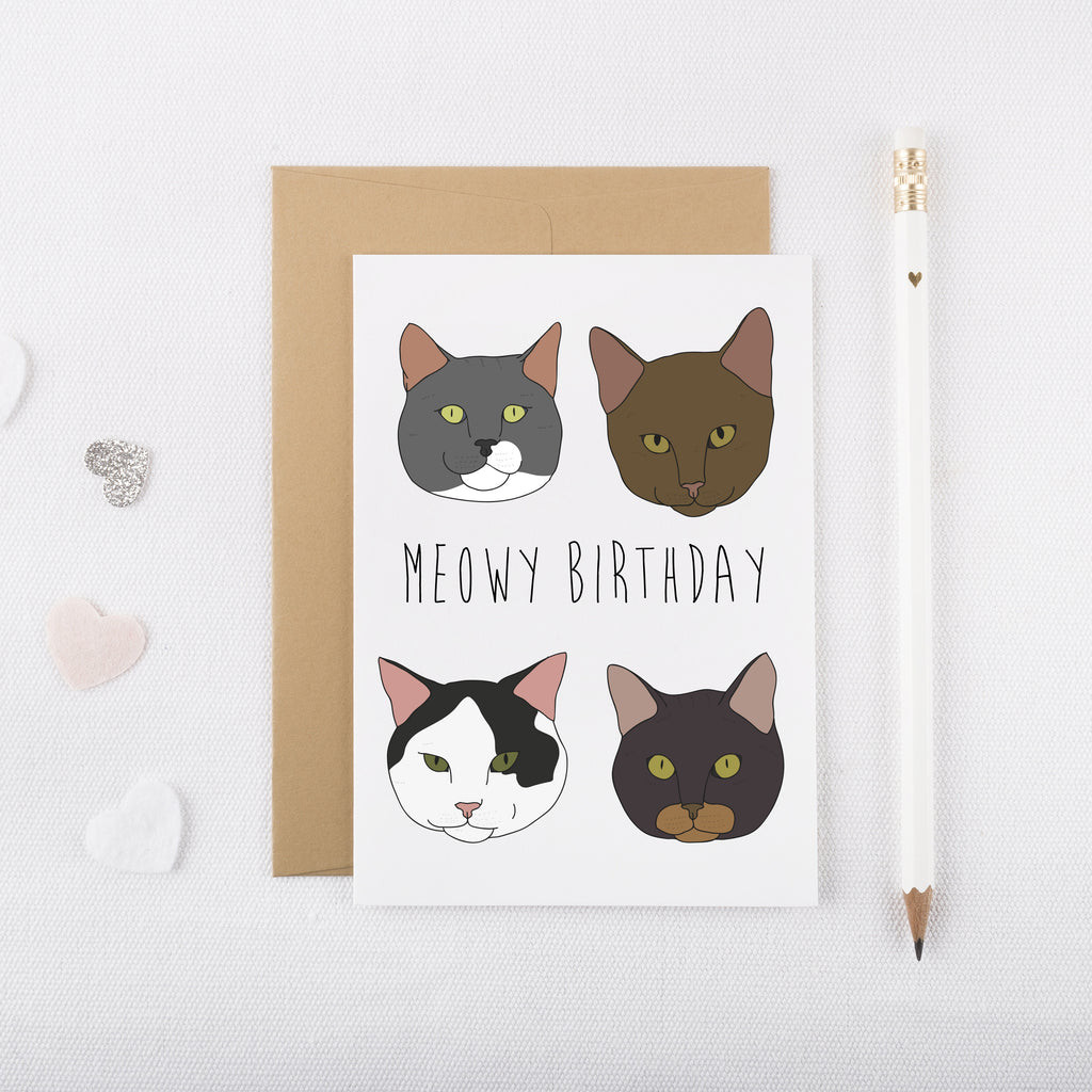 Meowy Birthday Card