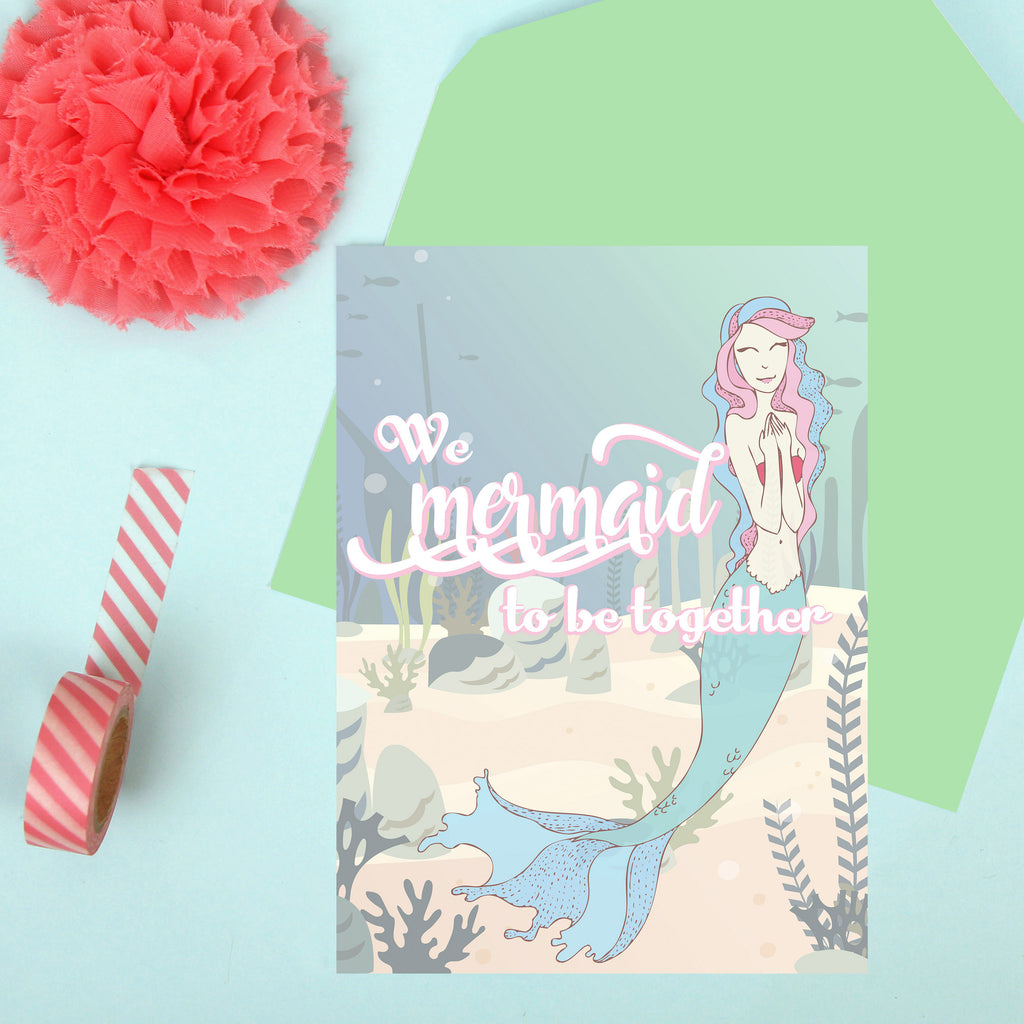 Mermaid to be Together Card