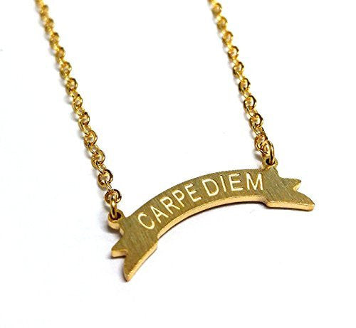 Carpe Diem Charm Necklace- Gold & Silver