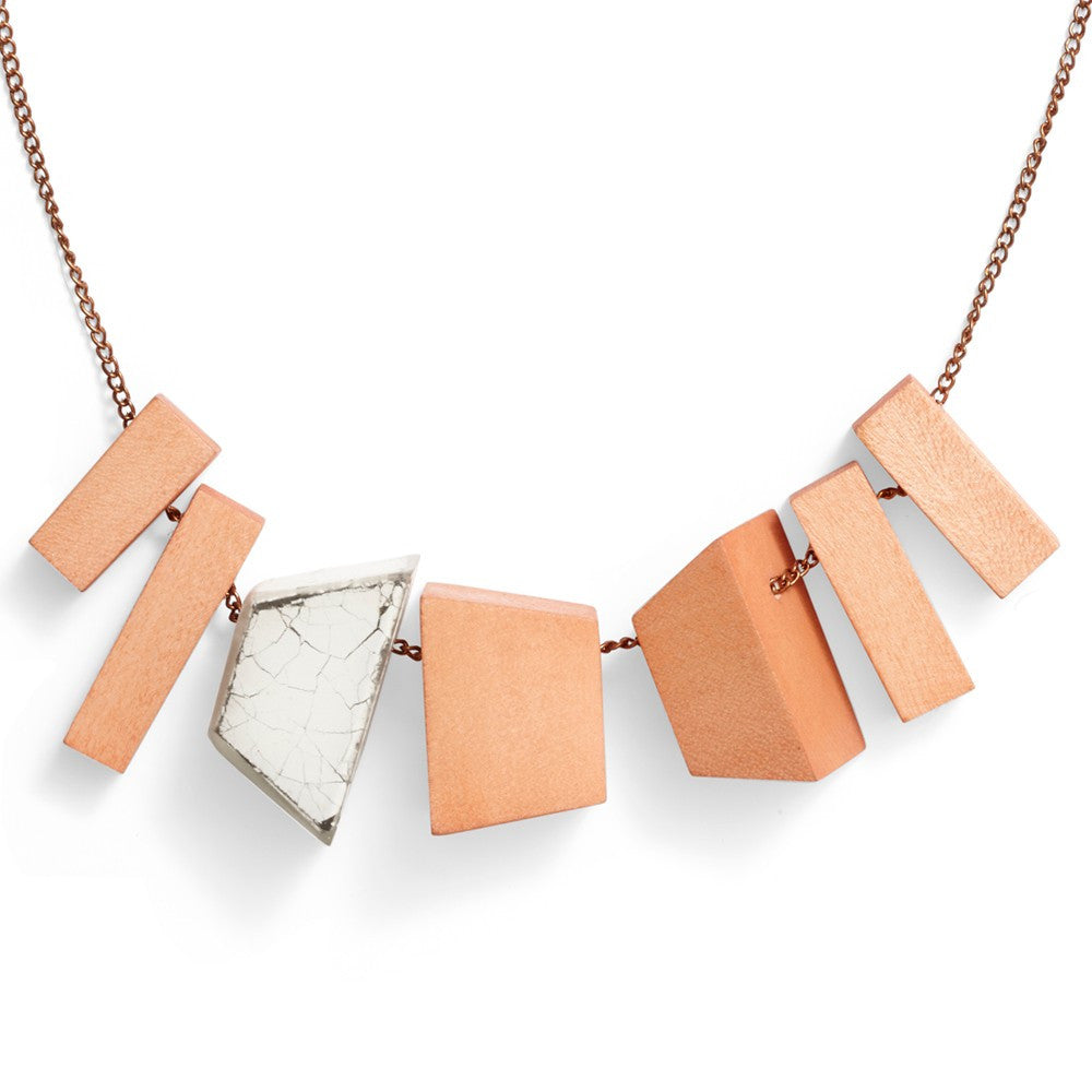 Wood Blocks Necklace