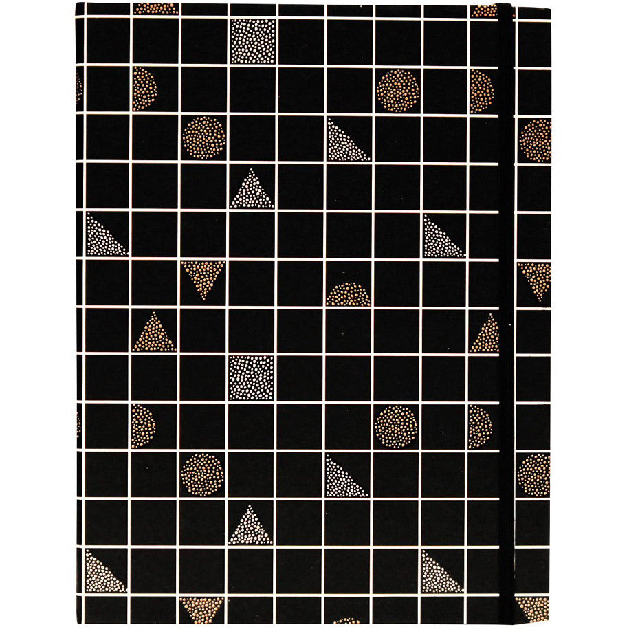 Large Black Grid Notebook