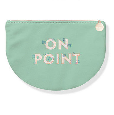On point faux leather pouch