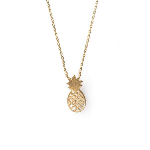 Pineapple Charm Necklace- Gold & Silver