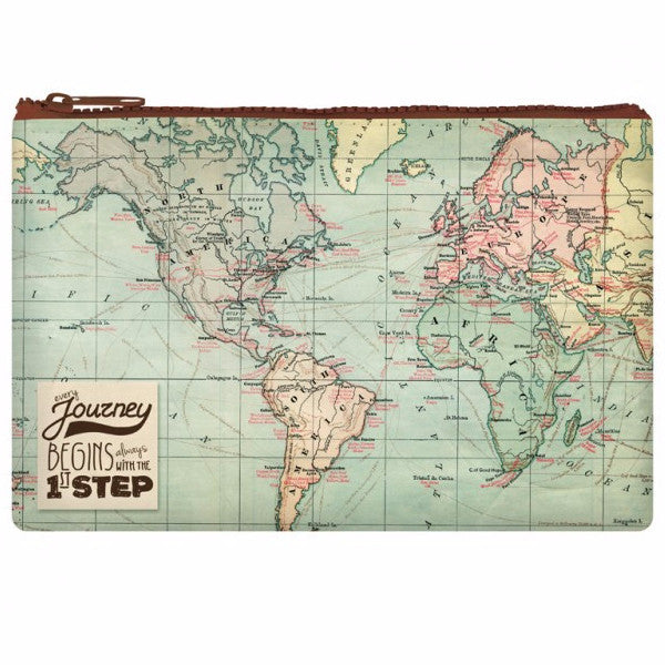 Map Zipper Pouch