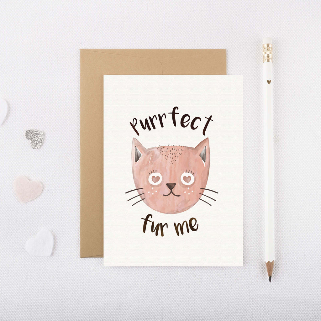 Purrfect Fur Me Card