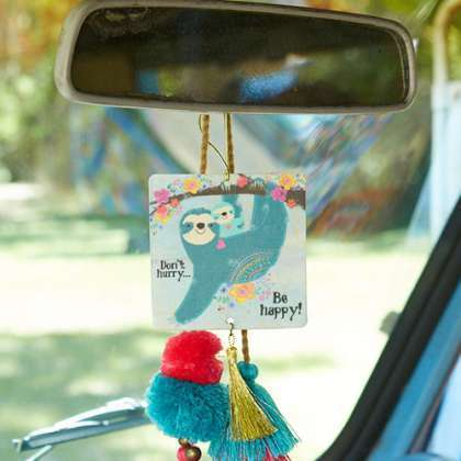 Be happy sloth air freshener