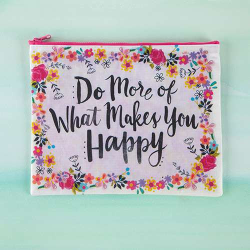 Do more Happy- Recycled Zip Pouch
