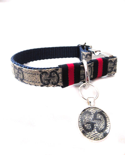 Navy Gucci Collar