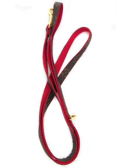 Floral Louis Vuitton Leash in Red