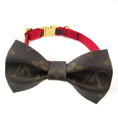 Floral Louis Vuitton Collar in Red
