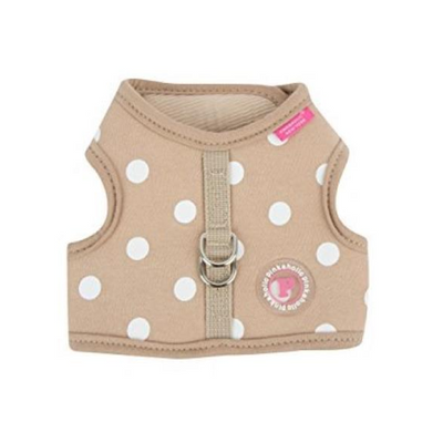 Beige Polka Dot Vest Harness