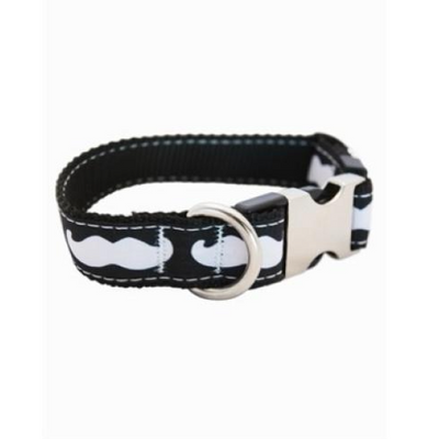Black & White Mustache Collar