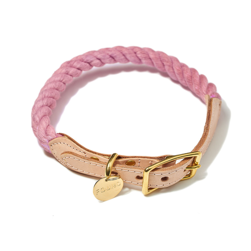 Blush Cotton Rope Collar