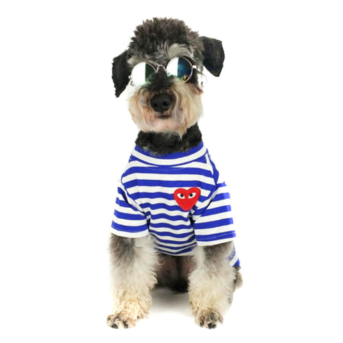 CDG Blue Striped Heart Shirt