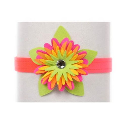 Electric Pink Island Flower Collar