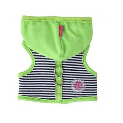Green & Stripes Hoodie Harness