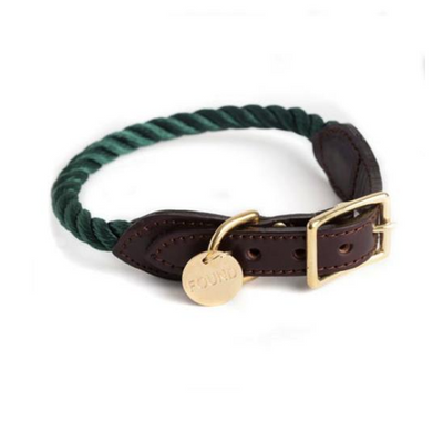 Hunter Green Rope Collar