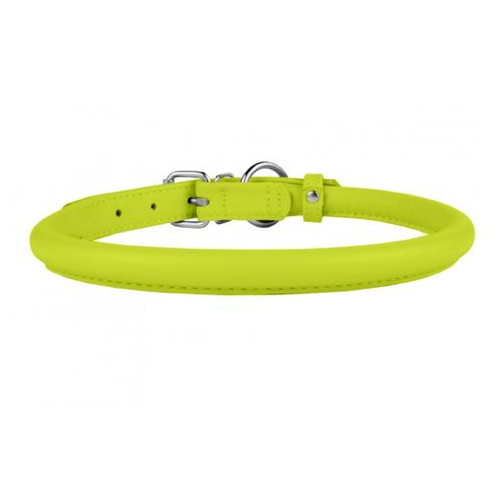 Lime Green Rolled Leather Collar