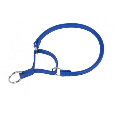 Navy Blue Rolled Martingale Style Collar