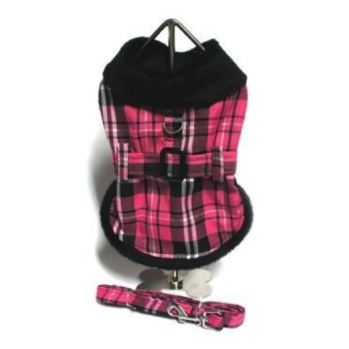 Pink Plaid Dog Coat