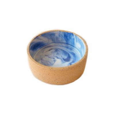 Sandy Beach Ceramic Dog Bowl