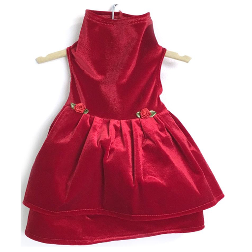 The Red Velvet Dress