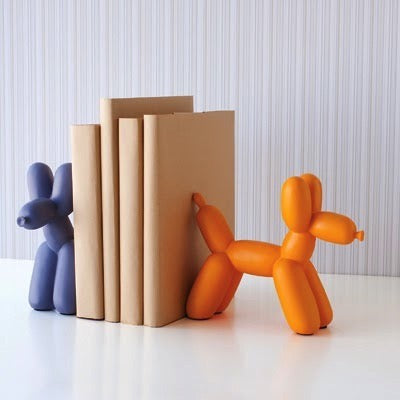 Orange Balloon Dog Bookend