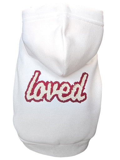 "Distressed ""Loved"" Dog Sweatshirt"