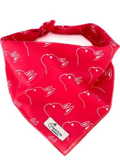 The Charlie Bandana in Hot Pink