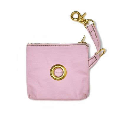 Light Pink Cotton Canvas Poop Bag Pouch