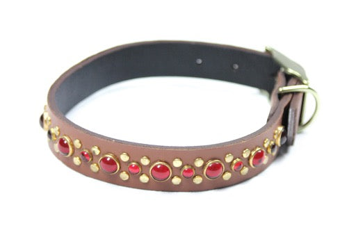 Stud and Stone Leather Collar