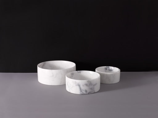 White Marble Water Bowl